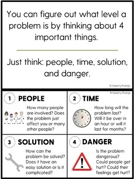 Describing and Solving Problems - Emotional Regulation Activities