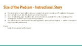 Size of the Problem - Instructional Self Regulation