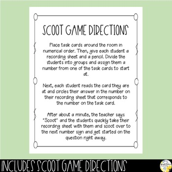 Size of the Problem Scoot Game