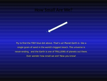 Size of the Universe (Editable Powerpoint)