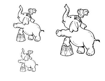 Size sorting activity: circus themed fun for preschool & kindergarten