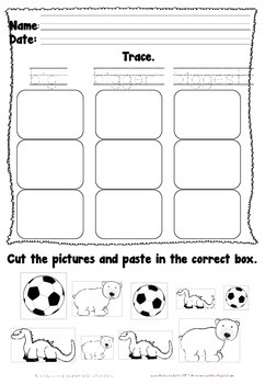 Sizes Cut and Paste Activity Sheet
