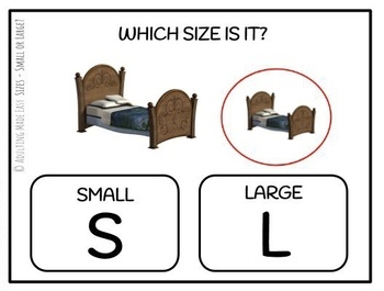 Sizes - Small or Large? Task Cards