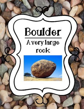 Sizes of Rocks Posters: Sand, Pebble, Boulder