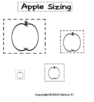 Sizing Apples Color, Cut and Paste