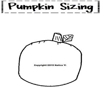 Sizing Pumpkins Color Cut and Paste