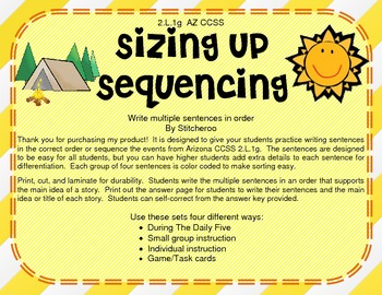 Sizing Up Sequencing