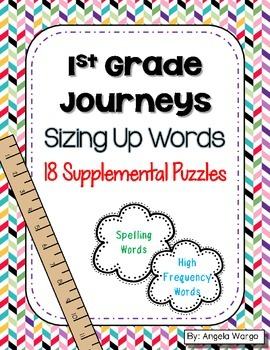 Sizing Up Words – Supplemental Puzzles for 1st Grade Journeys