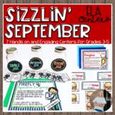 Sizzlin' September ELA Centers + DIGITAL Bundle