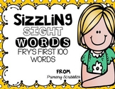 Sizzling Sight Words Fry's First 100 Words Games and Cards