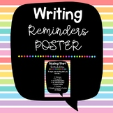 Writing Reminders Poster