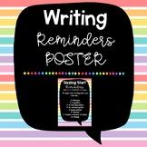 Writing Reminders Poster