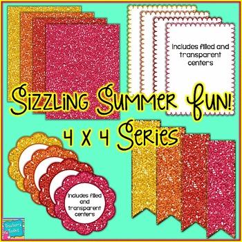Sizzling Summer Fun! Mini Seller Starter Pack Clip Art CU OK {4444}