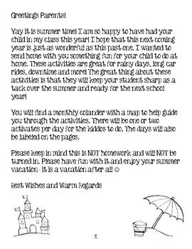 Sizzling Summer Packet - Kindergarten