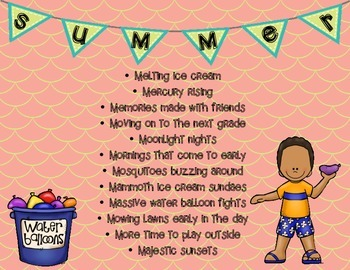 Sizzling Summer Poem (an acrostic poem for the Summer season!)
