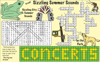 Sizzling Summer Sounds Two-Page Activity Set