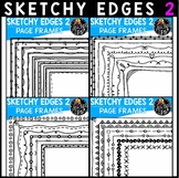 Sk-edges 2 Hand Drawn Page Border Clip Art Bundle {Educlips Clipart}