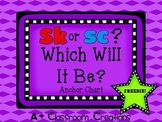 Sk or Sc?  Which Will It Be?  {Anchor Chart}