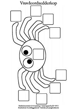 Skabelon til vrøvleords-edderkopper
