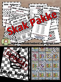 Skak pakke - aktivitetskort og pralemærker