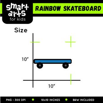 Rainbow Skateboard Clip Art