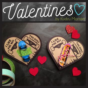 Skateboard Heart Valentine
