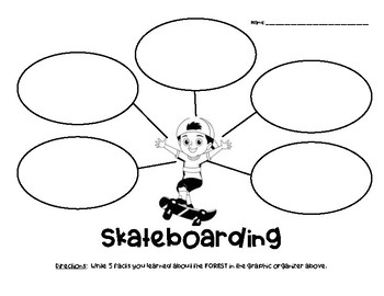 Skateboarding Nonfiction Facts Graphic Organizer