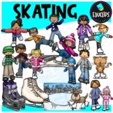 Skating Clip Art Bundle {Educlips Clipart}