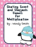 Skating Scoot and Slapjack:  Multiplication Games (Common Core)