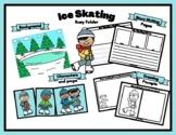 Skating Winter Busy Folder For Speech, Dramatic Play, Writ