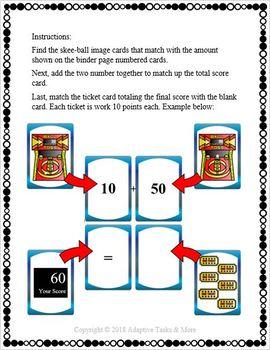 Skee-Ball Math Binder Task