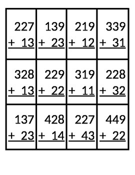 Skeeball 3 Digit + 2 Digit Addition with Regrouping
