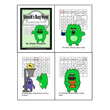 Skeezik's Busy Week: A READ TO LEARN Book About the Days of the Week