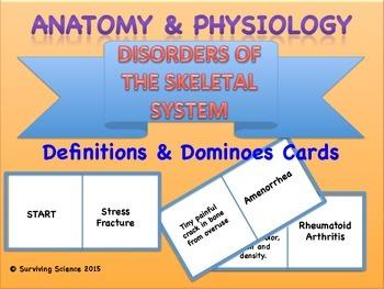 Skeletal Disorders Anatomy/ Medical Terminology Definitions Dominoes Game