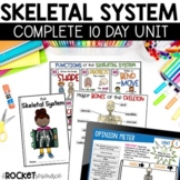 Skeletal System facts book and skill pages | Bones types a