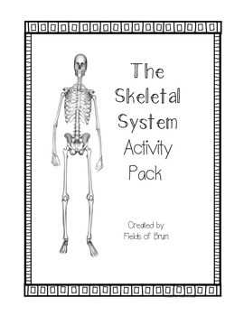 Skeletal System Activity Pack including word wall words