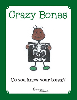 Anatomy Skeletal System Bones File Folder Game & Cut and Paste Activity