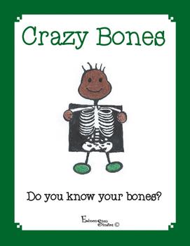 Anatomy Skeletal System Bones File Folder Game & Cut and Paste Activity