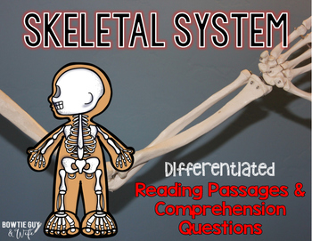 Skeletal System Differentiated Nonfiction Reading Passages