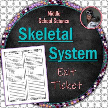 Skeletal System Exit Ticket