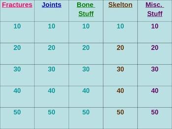 Skeletal System Jeopardy