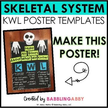 Skeletal System KWL Poster FREEBIE