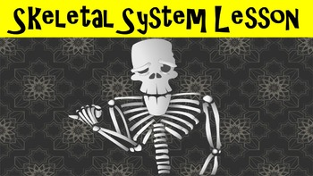 Skeletal System No Prep Lesson with Power Point, Worksheet