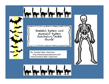 "Skeletal System ""Match Game"" for Elementary Science"