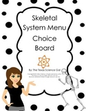 Skeletal System Menu Board