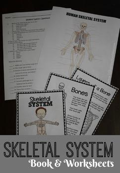 Skeletal System Mini Book & Worksheets