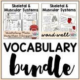 Skeletal System   Muscular System Vocabulary Bundle