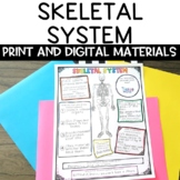 Skeletal System Nonfiction Article and Sketch Note Graphic