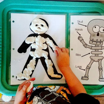 Skeletal System Play-doh Mat