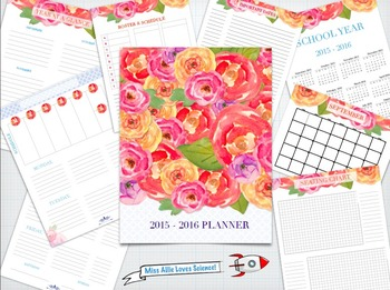 2015-2016 Teacher Organization Planner!